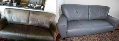 photo leather sofa re dye fibrenew south austin