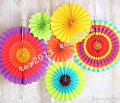 2018 fiesta paper fan decorations decorative foldable tissue paper fan flower craft wedding garland modern party hanging decoration from toy2016