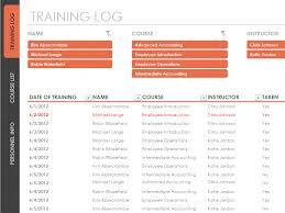 Training Log Template Log Templates
