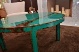 Hand Made Custom Round Metal Coffee Table Art With Beautiful Turquoise And  Jade Green Paint Color by DANGEROUS COLOR | CustomMade.com