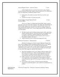 Ministry Resume Berathen Com