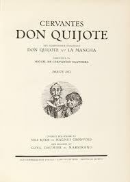 iconography of don quixote den skarpsindige adelsmand don quijote av la mancha forfattet av miguel de cervantes saavedra oversat fra spansk av nils kjaer og magnus gronvold