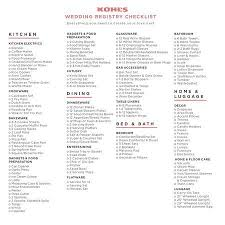 wedding registry list. KohlsWeddingRegistryChecklistEverythingyouneedtocreate