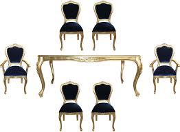 Casa Padrino Luxus Barock Esszimmer Set Royalblau Gold 1