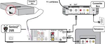 wiring diagrams hookup dvd vcr tv hdtv satellite cable how to hookup tivo to dtv converter box