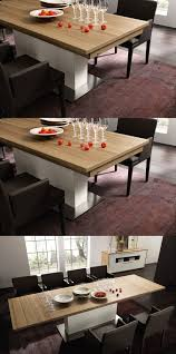 cream compact extending dining table:   expandable table