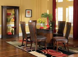 dining room rug under round table clear glass top square black elegant wood kitchen island