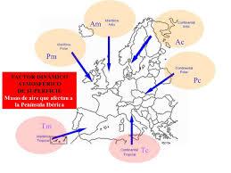 Resultat d'imatges de advecciones aire peninsula iberica