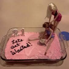 drunk barbie cake gift idea for 21st birthday
