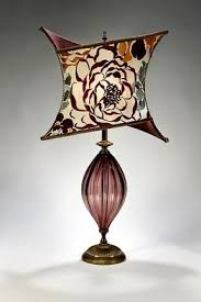 tori caryn kinzig and susan kinzig mixed media table lamp artful home artisan blown glass lamps
