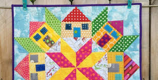 Create a Bit of Whimsy with This Mini Houses Quilt - Quilting Digest & Mini Houses Quilt Tutorial Adamdwight.com