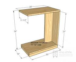 rolling c end table or sofa table diy
