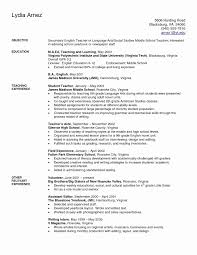 Example Of Good Cover Letter Best Of Resume For Teacher Examples