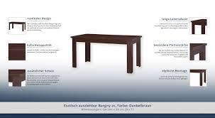 Esstisch Ausziehbar Bargny 01 Farbe Dunkelbraun 150 200 X 80 Cm