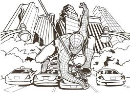 Small Picture Spiderman Coloring Pictures Coloring Pages Kids
