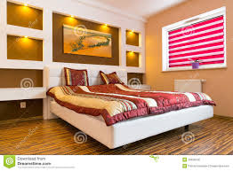 Master Bedroom Bed Master Bedroom Interior With White Bed Stock Photo Image 29536440