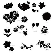 フリー素材 お花画像 フリー素材配布サイトシルエット素材aiデータ