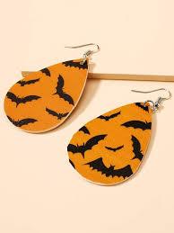 <b>Halloween Bat</b> Decor <b>Drop</b> Earrings   SHEIN IN