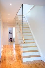 20 glass staircase wall designs with a