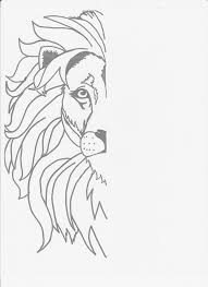 lion drawing. Contemporary Drawing Mirrorimage Lion 001 Inside Lion Drawing