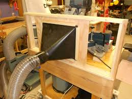 dust hood for the sliding miter saw by stevew table saw blade guard dust collection table