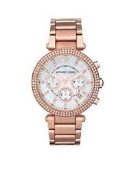 michael kors watch men s chronograph garrett espresso ion plated michael kors dameshorloge mk5491 • de bijenkorf