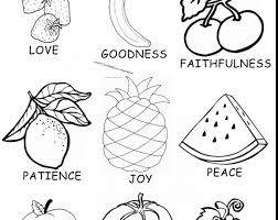Coloring Pages Of The Fruit Spirit Gallery Best Image To Color New