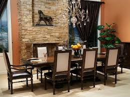 small formal dining room ideas. Small Formal Dining Room Ideas With Stone Wall Decor