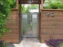 Exterior Fencing Designs Outdoor Amazing Wood Fence Design With Glass Door For