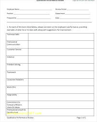 Performance Review Form Template Employee Review Template Employee