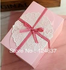 Decorate Cake Box Bow snack box partywebbing cake Box single cupcake boxes cute 2