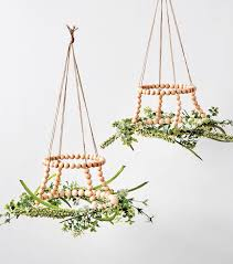 How To Make A Wood Bead And Floral Chandelier Crafty Ideas