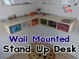 diy wall mounted standing desk. Delighful Desk How To Build A Wall Mounted Stand Up Desk To Diy Standing E
