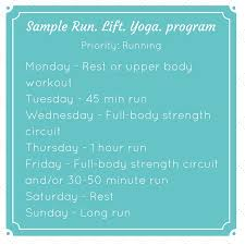 sle workout program for running lifting and yoga when running is your priority