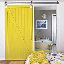 Sliding Barn Doors: Bring attention to this unique feature by painting  sliding barn doors with