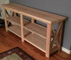sofa table plans. DIY Sofa Table Found On Shanty2chic.com, Plans From Ana-white.com T