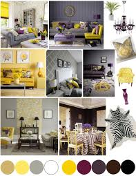 Purple And Grey Living Room Color Palette Yellow And Plum Grey Yellow Plums And Living Rooms