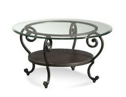 glamorous round iron coffee table 27 low metal