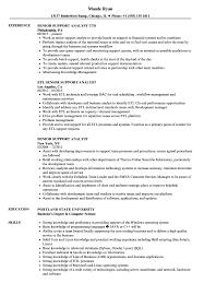 Senior Support Analyst Resume Samples Velvet Jobs
