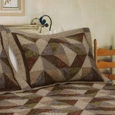 Country Cottage Cotton Patchwork Quilt Bedding & Country Cottage Quilted Sham Multi Warm Standard Adamdwight.com
