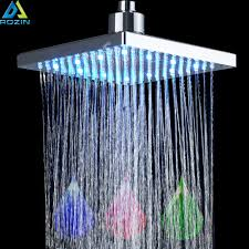 Us 1799 40 Offhelle Chrome Led Licht Regen Dusche Kopf Rechteckige Led Farbwechsel Dusche Kopf Dusche Wasserhahn Ersetzen Kopf In Duschköpfe Aus