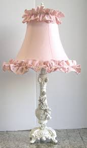 shabby chic lighting fixtures. lamp shade would like to make with layers or rows of ruffles shabby chic lampsnightstand lighting fixtures e