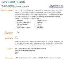 Resume template for students first job gfyorkcom