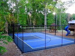 traditional landscape by salt lake city backyard courts snapsports athletic floors courts