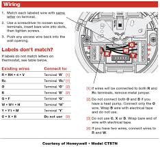 wire thermostat diagram honeywell thermostat wiring instructions diy house help 5 wire honeywell thermostat wiring