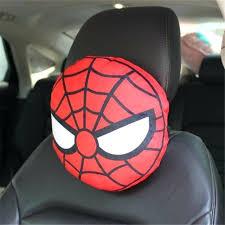 spiderman car seat covers short plush car seat neck cartoon cute car headrest universal car fruit spiderman car seat covers
