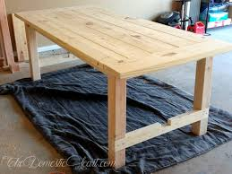 simple diy farmhouse dining table my first woodworking project easy diy dining table