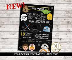 Star Wars Birthday Invitations Printable Star Wars Invitation Star Wars Birthday Invitations Star Wars