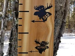 Moose Growth Chart Moose Mama And Dad Arrows Height Marking Arrows Growth