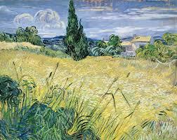 landscape with green corn painting vincent van gogh landscape with green corn art print